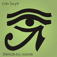 Egyptian Stencil 10 Eye Horus Sun Moon Health Power Ancient Hieroglyph Symbol