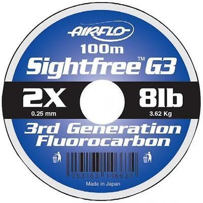 Airflo Sightfree G3 Fluorocarbonio 100 Metri Fly & Pesca Al Salmone Linea Chiara- Pacchetto Elegante E Robusto