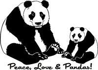 Peace Love Panda Bear Vinyl Wall Lettering Decor Quote Art Decor Mural