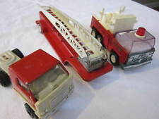VINTAGE MIXED LOT OF 3 PRESSED STEEL FIRE TRUCKS BUDDY L AND TONKA