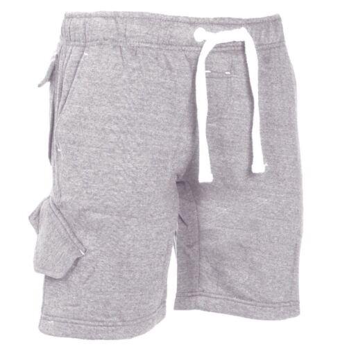 Da Uomo coulisse Jersey Jogging Sudore Pile Pantaloncini Bottoms Taglia S-XXL