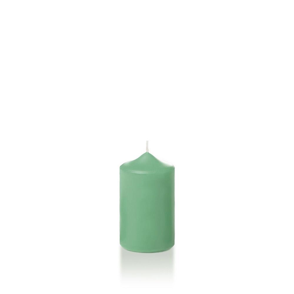 Set of 16, Unscented Pillar Candles, Just Candles. 2.25  x 3 , Sage