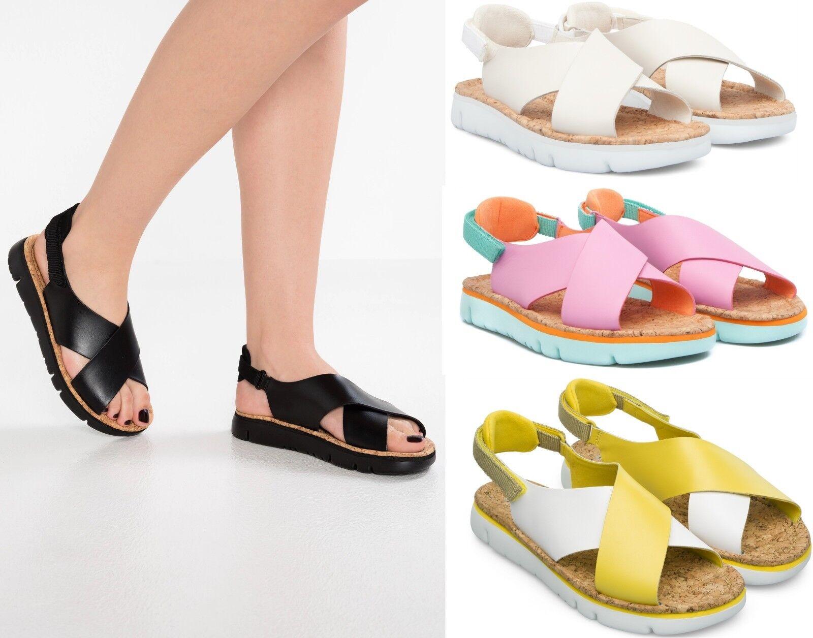 CAMPER Women's NEW Oruga Slideback Strap Sandals Open Toe Leather Summer shoes