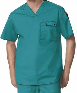 WonderWink Medical Scrubs Men/'s Navy Utility 5 Pocket Top Sz XL-XXL NWT
