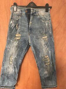 100% De Qualité Fetish Femme 3/4 Jeans Taille 26 Facile à Lubrifier