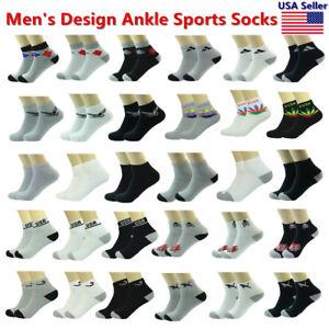 Wholesale Assorted Colors Men's Ankle Quarter Sport Cotton Socks Size 9-11 10-13