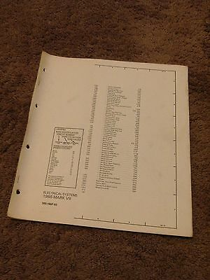 1985 Lincoln Mark VII Electrical Wiring Diagram Manual ...