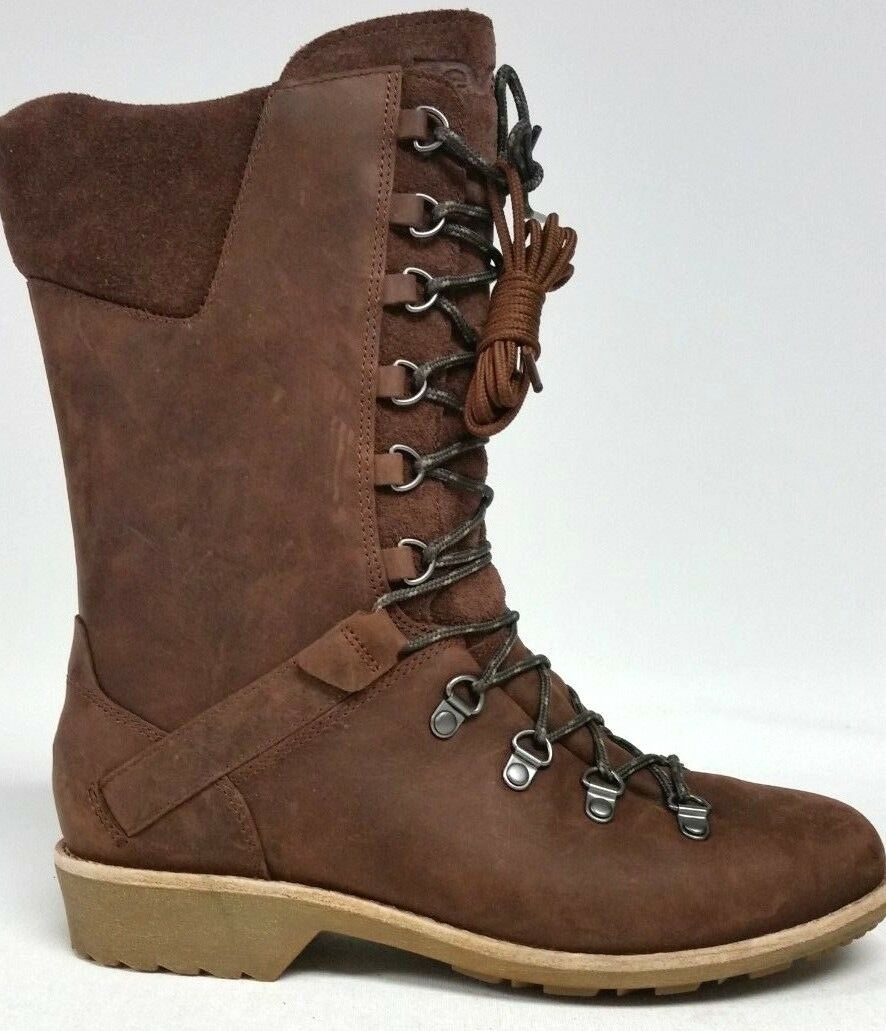 New Women's Teva DeLaVina Lace Up Boots - Size 7 - Brunette