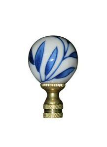 Modern Deco Ball Top Solid Brass Lamp Finial 2.5/'/' New Old Stock Mid-Century