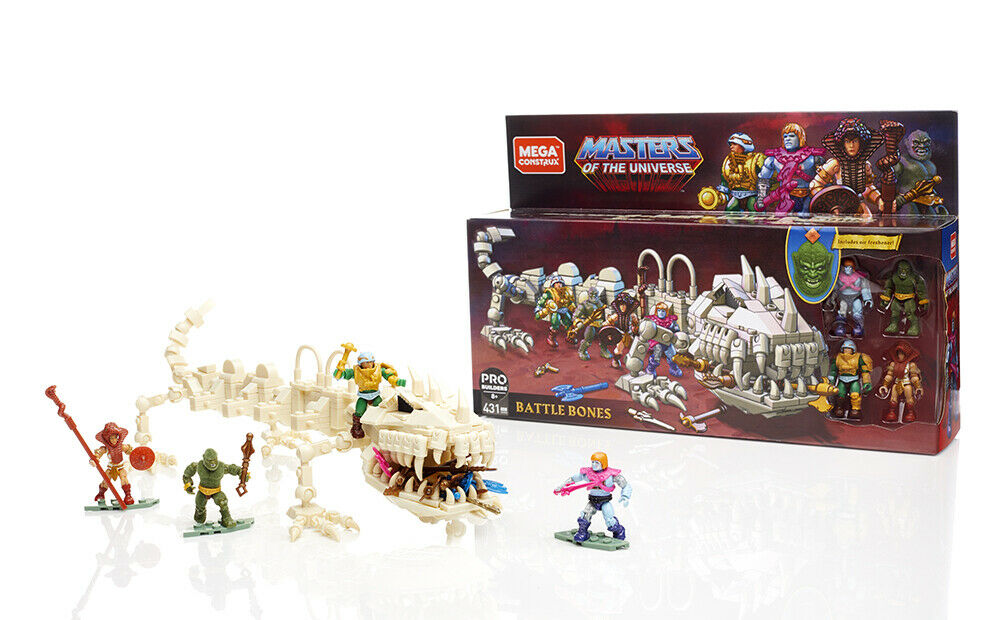 SDCC 2019 Mattel Exclusive Mega Construx Masters of the Universe battle Bones