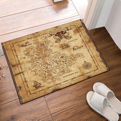 Horse And Red Sky Bath Mat non-Slip Bathroom Door Shower Rug Carpet 40x60cm