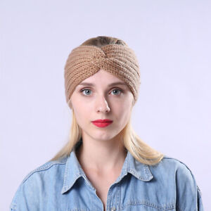 Autumn-Winter-Cross-Knitted-Headband-Band-Elastic-Sports-Hair-Wool-Headgear-n