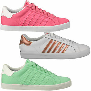 K-Swiss-Belmont-Women-039-s-Sneakers-Canvas-Casual-Shoes-Trainers-Tennis-Shoes