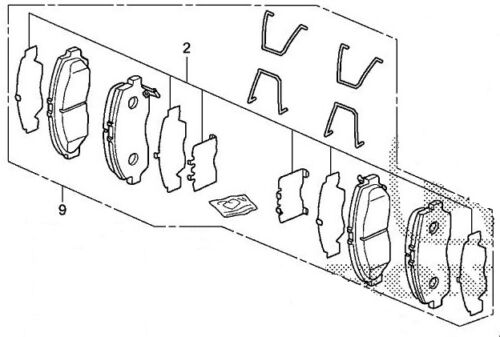 Genuine OEM Honda Accord EX Front Brake Pad Set 2008-2012 Brakes Pads TSX 04-12