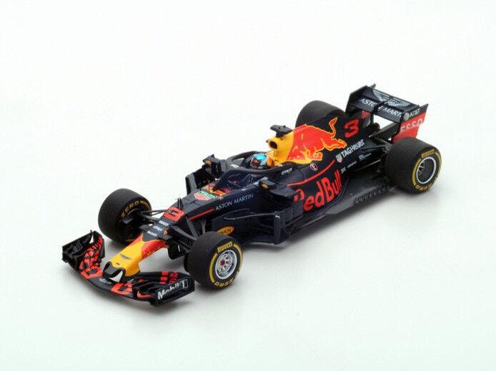 Spark Model 1:43 S6058 rosso Bull RB14 F.1 TAG  3 Winner Cina GP 2018 Ricciardo