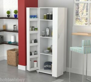 Image Is Loading Tall Kitchen Cabinet Storage White Food Pantry Shelf