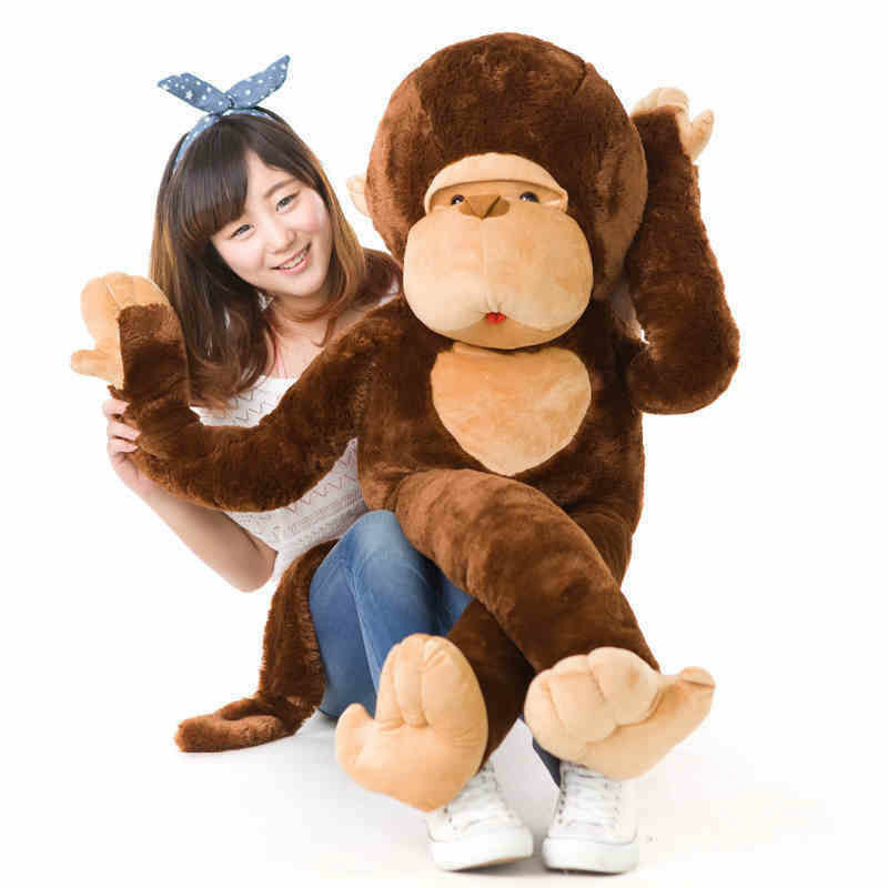 43  Giant Huge Big Stuffed Animal Soft Monkey Doll Plush Cute Toy Embroider