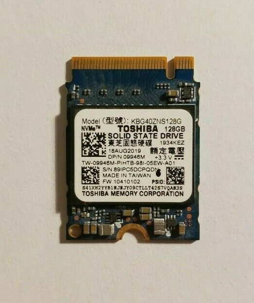 Dell Toshiba 128GB PCIe NVMe M.2 2230 Internal Solid State Drive Laptop SSD. Buy it now for 20.00