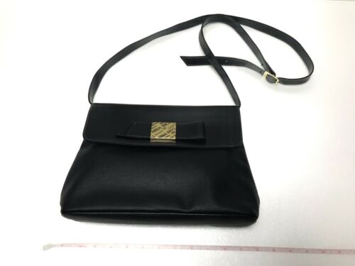 NINA RICCI shoulder bag black used (3201