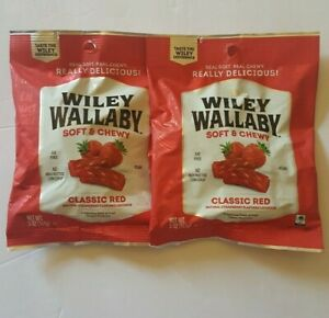 Red-Strawberry-Gourmet-Licorice-Candy-Wiley-Wallaby-Australian-Style-5oz-2-Pack