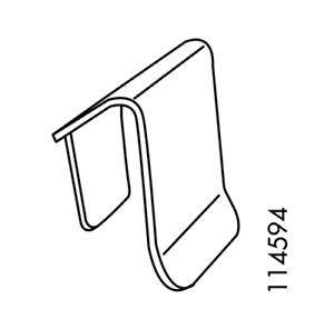 2x Ikea PS Cabinet Shelf Bracket Steel Part # 114594