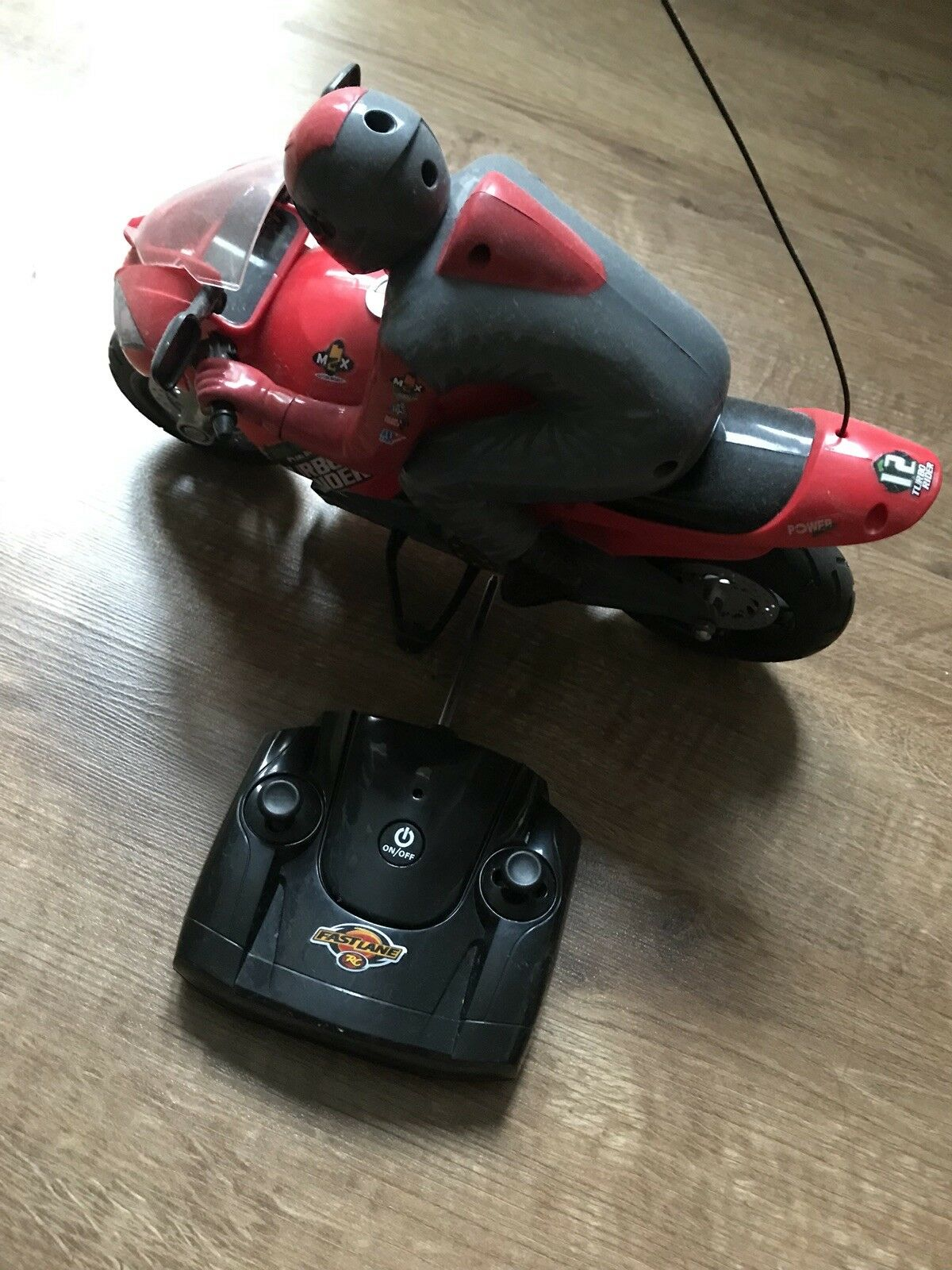 Turbo Rider Remote Control Fast Speed Motorbike Battery Operated Red Motorcycle