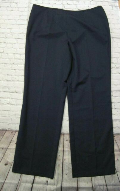 Isabella Womens Suits Plus Size 18W Blue Side Zip Dress Pants 39 x 32 Stretch