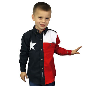 Youth-Texas-Flag-Button-up-shirt-Rockpoint-Apparel