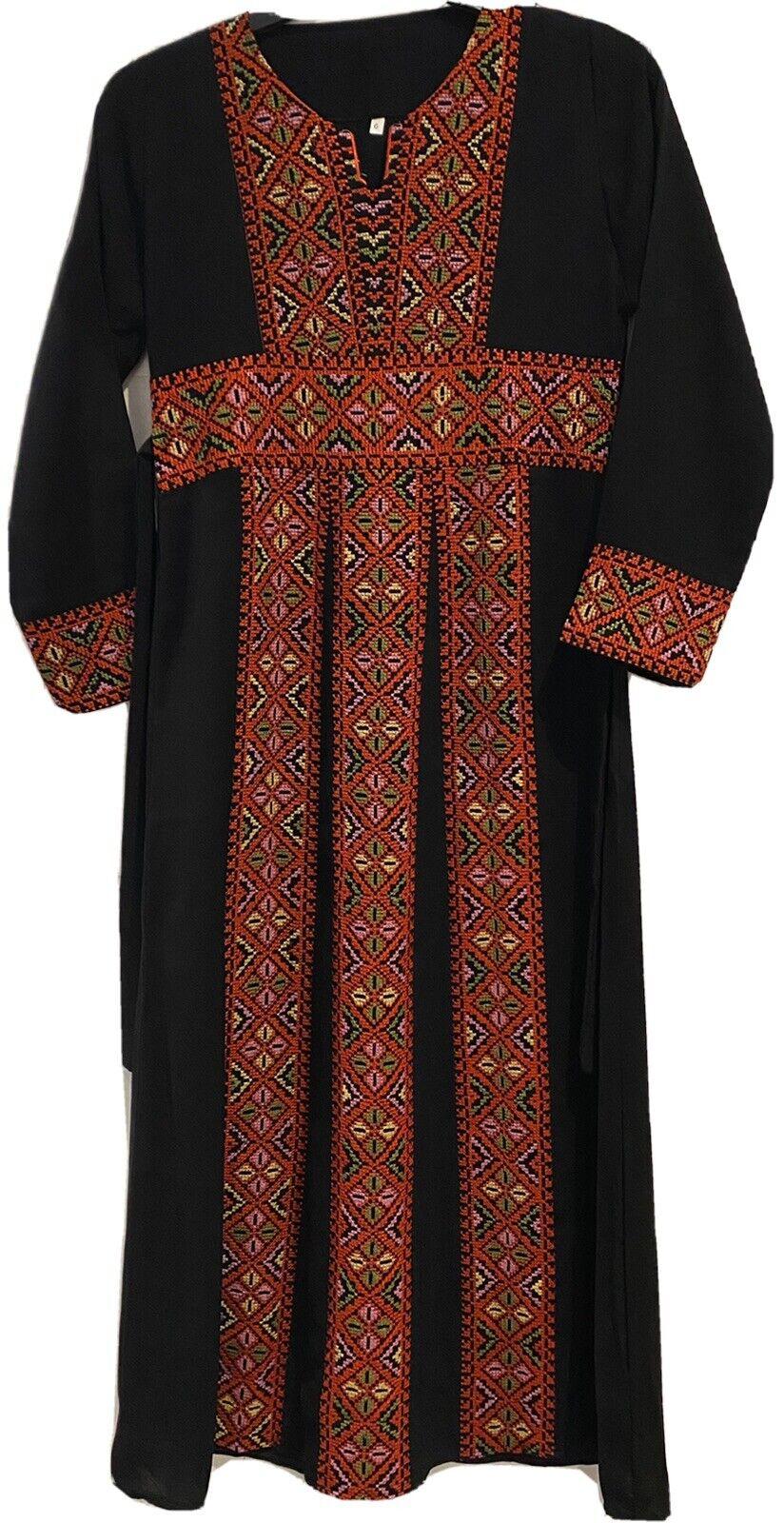 Girls Maxi Dress Eid Dress Jordanian Palestenian Thobe 10 12 Years Girls Long