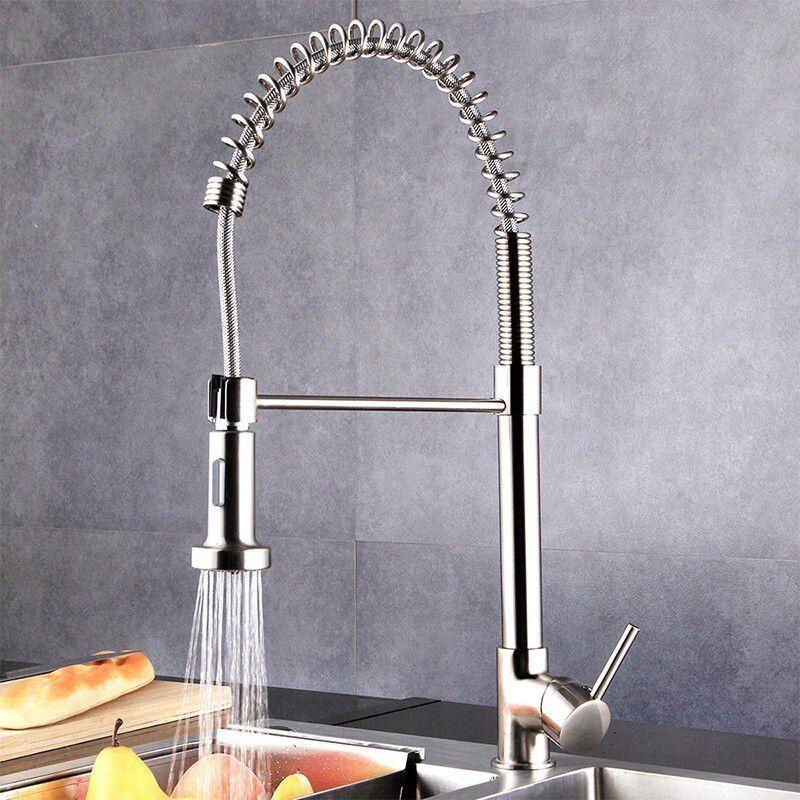 Spiralfeder Küchenarmatur Spültisch Armatur 360°Küche Brause Wasserhahn Neu | Outlet Store Online  | Einfach zu spielen, freies Leben  | Die erste Reihe von umfassenden Spezifikationen für Kunden  | Hohe Qualität