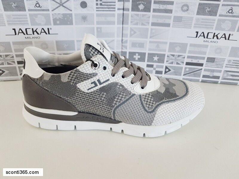 Jackal Art. Scarpa sneaker, uomo - Art. Jackal JLU79.29 (Grigio/Bianco) 54b2b3