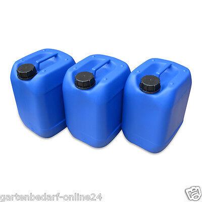 WunderschöNen 3 X 10 L Kanister Blau Camping Plastekanister Wasserkanister Trinkwasser Din51 Trinkflaschen & Trinksysteme Spezieller Sommer Sale