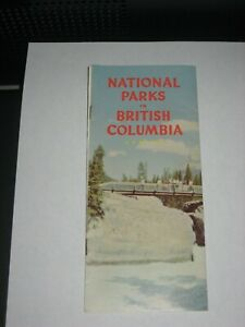 National Parks in British Columbia Brochure - 1959