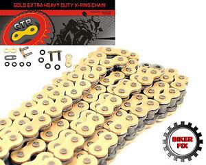 Kawasaki ER-6f 06-11 GOLD Heavy Duty X-Ring Chain Sprocket Kit EX650 A6F-DBF