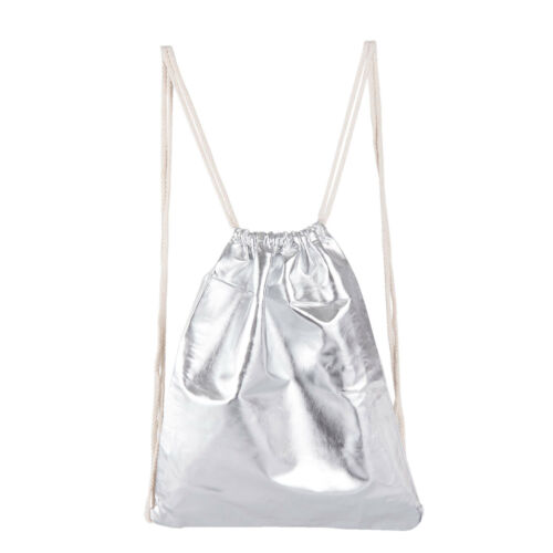 Juleeze CLAYRE Tasche Rebellic metallic silber Rucksack Beutel 40*32 JZBG0138ZI