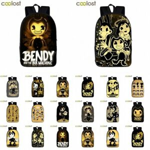 cc4312836e0f Bendy And The Ink Machine Kids Backpack School Bags Travel Laptop ...