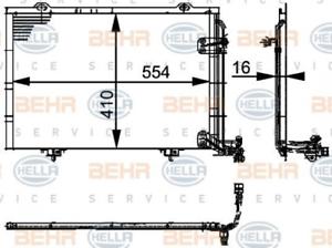 climatisation 8fc351037-334 pour MERCEDES-BENZ Hella Condenseur