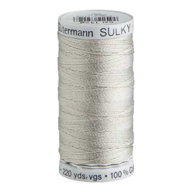 Colour 1328 200m Embroidery Thread VERY LIGHT MOCHA Gutermann Sulky Cotton 12
