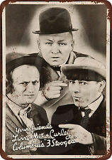 1936 Three Stooges Vintage Look Reproduction Metal Sign 8 x 12 USA
