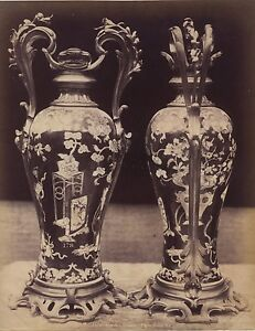 Garde Meulble Vases Louis XV France Objets d'Art Vintage Albumine ca 1880
