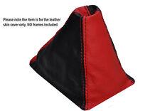 BLACK RED LEATHER SKIN GEAR GAITER FITS HONDA CIVIC EG6 EG9 EJ1 1992-1995
