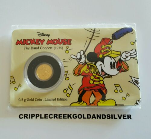 The Band Concert 0.5 Gram Gold Coin 2016 Disney Mickey Mouse Through The Ages
