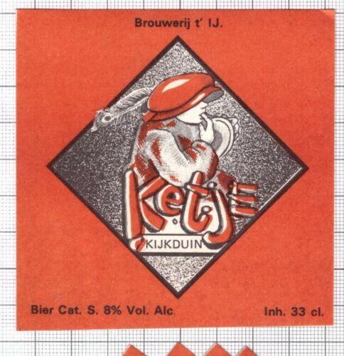 sticker beer label C2230 067 HOLLAND Micro,Brouwerij t/' Ij KETJE Kijkduin