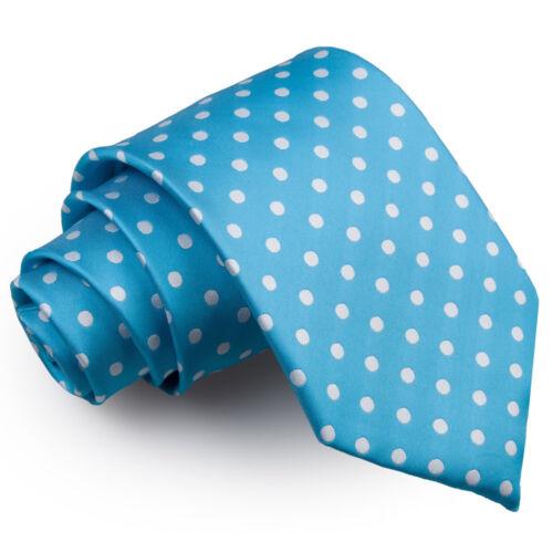 Bleu Homme Cravate Solid Plain Écossais à Motifs Floral Paisley Polka Dot par DQT