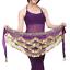 NEW Triangular scarf Belly Dancing Hip Scarf Wrap Skirt /&Gold Coins Belt skirt