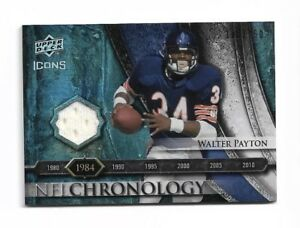 "9ff98962498 2008 Icons NFL WALTER ""SWEETNESS"" PAYTON JERSEY PATCH /150 Game-Worn ..."