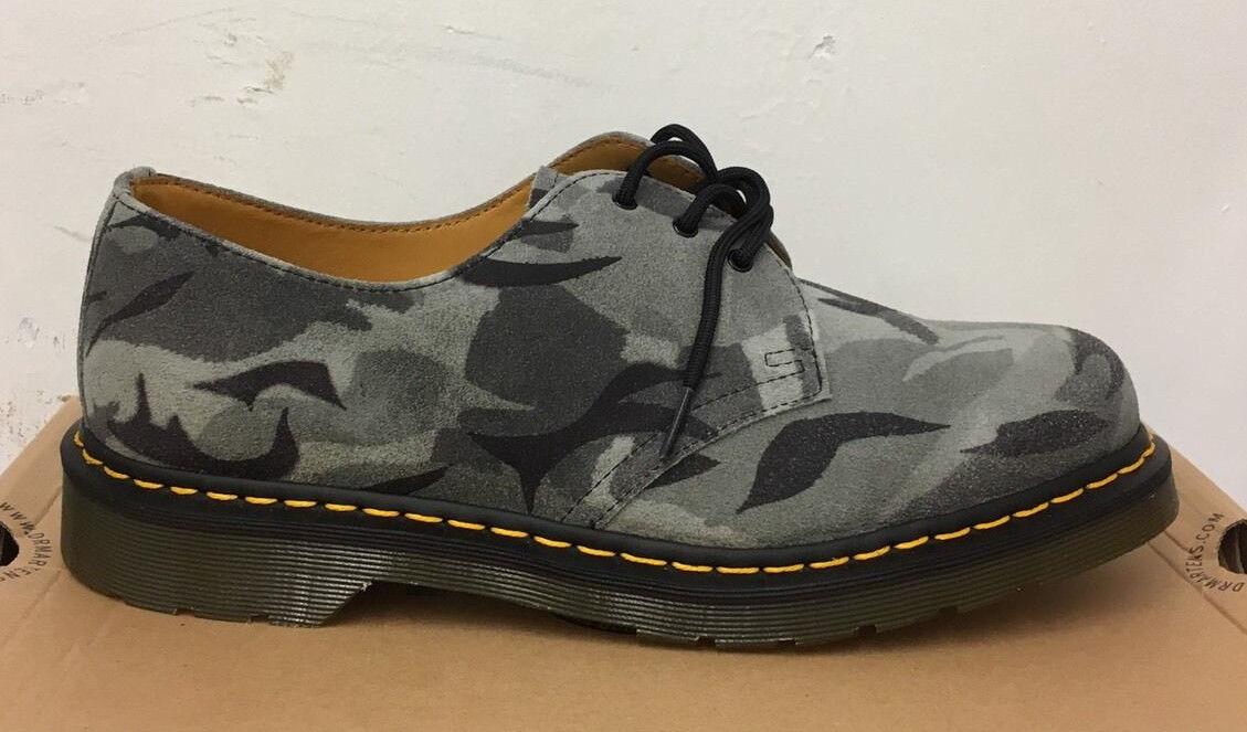 Dr. Martens 1461 gris Camuflaje Zapatos De Gamuza británicos de de de gran tamaño de Reino Unido 3  promociones