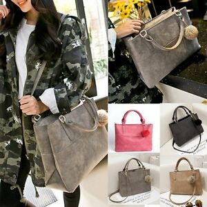 Image Is Loading New Designer Womens Leather Style Large Tote Shoulder