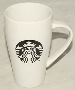 Image Is Loading Starbucks 2017 Tall White Coffee Mug Black Mermaid