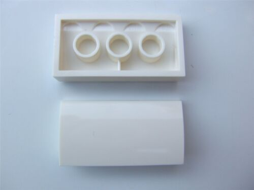 Parts /& Pieces 2 x Lego White Plate with bow 2x4x2//3-4583297